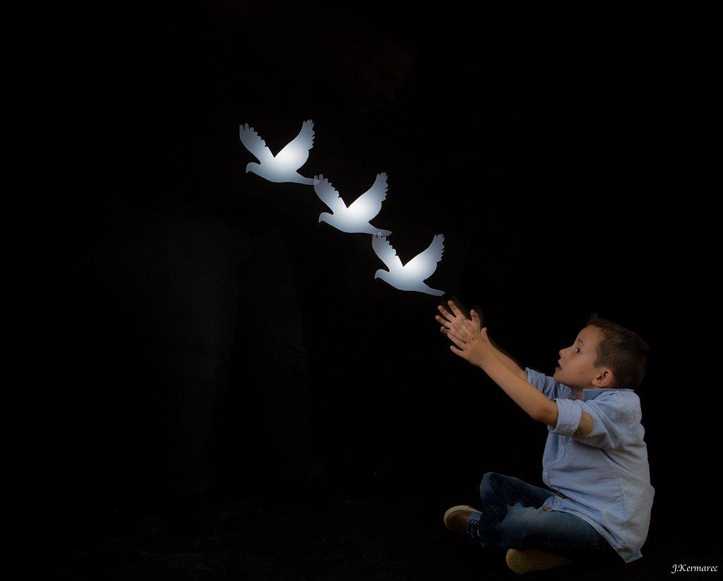 L'enfant et les oiseaux
