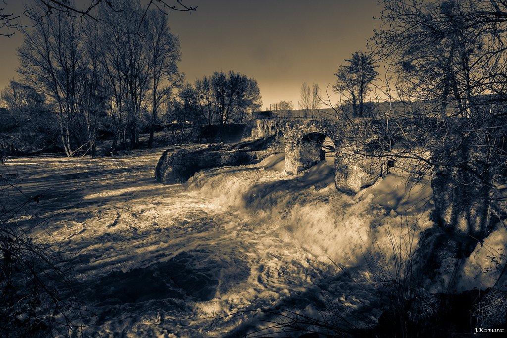 Pont digue de Mazère