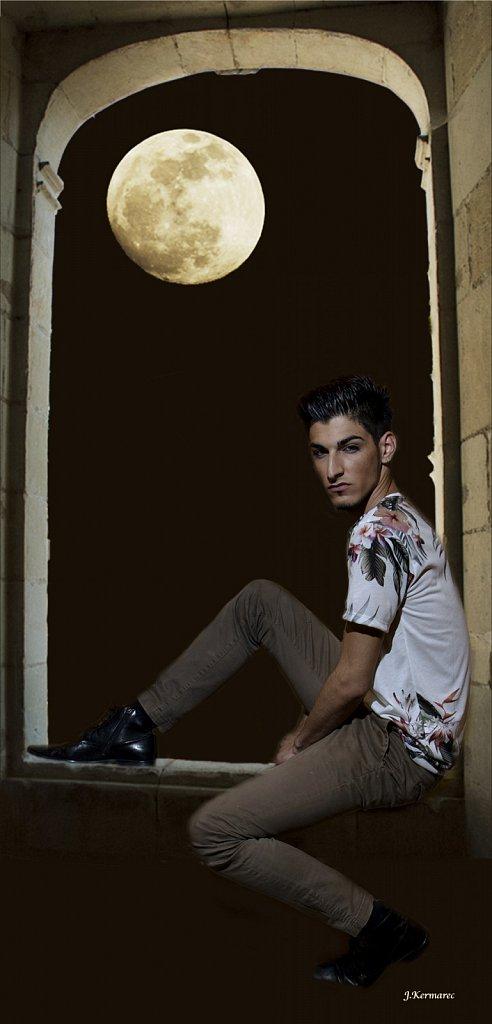Rudy au clair de lune