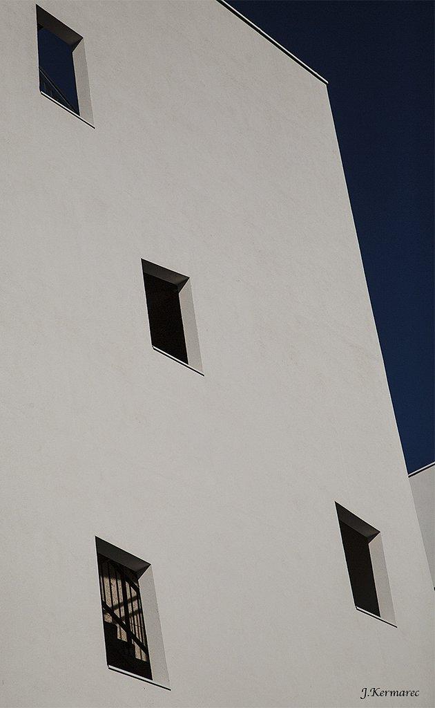 Fenêtre sur escalier