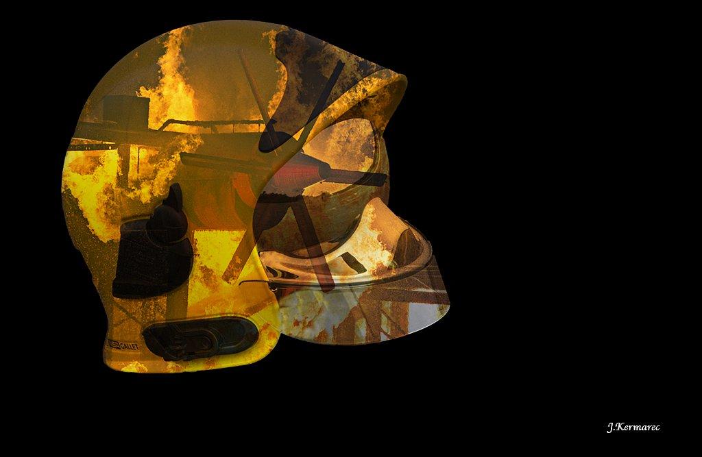 Le casque en feu