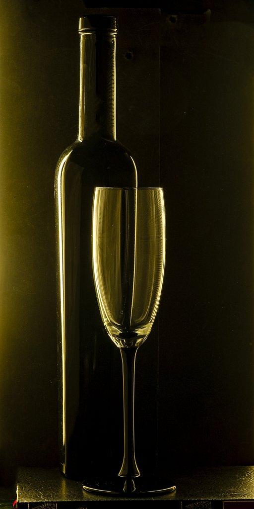 Le verre et la bouteille